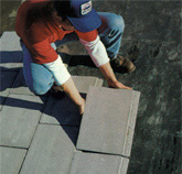 placing ballast pavers